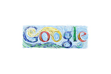Google Doodle – Vincent van Gogh's 152nd Birthday March 29, 2005