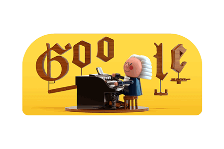 Google Doodle – Celebrating Johann Sebastian Bach March 21, 2019