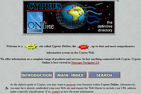 Cyprus Online in 1997