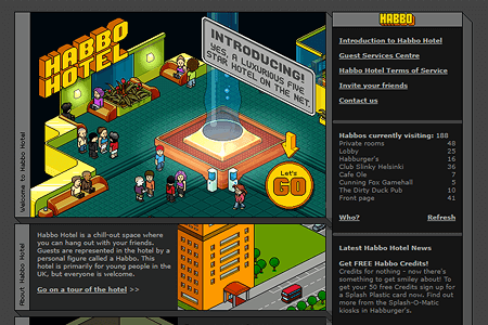 Habbo Hotel in 2001