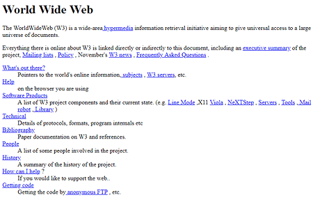 The World's First Website