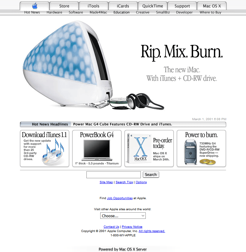 Apple in 2001