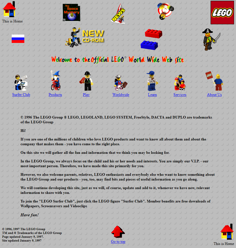 Lego in 1997