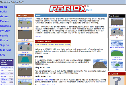 Roblox in 2005