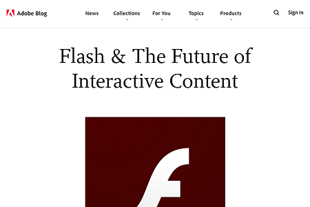Adobe announced termination of Flash