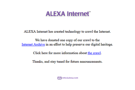 Alexa Internet website in 1997