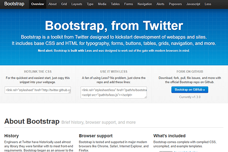 Bootstrap, from Twitter website in 2011