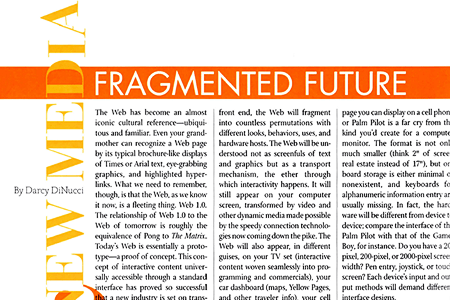 Fragmented Future by  Darcy DiNucci  – Web 2.0