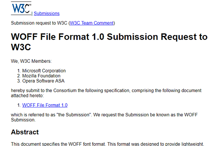 WOFF 1.0 specification from 2010
